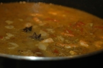Boil for 5 mins before covering with lid & simmering